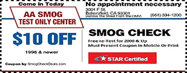 Dmv Smog Check >> 10 Smog Check Coupons Star Station Bakersfield